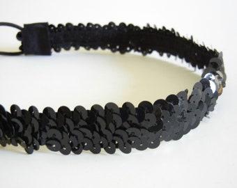 Black Sequin Headband