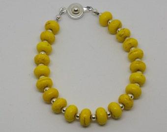 Yellow Rondelle Beaded Bracelet