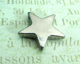 Stainless Steel Star Bead, Stainless Steel Jewelry Pendant, Set of 5 SST Findings13.5mm Small Star Charm (032)