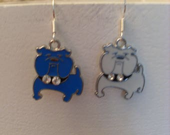 "Earrings collection""two-tone"" small dogs"