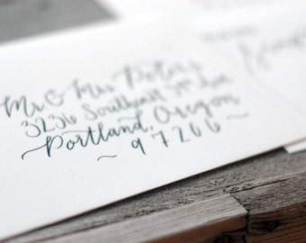 Custom Calligraphy Addressing