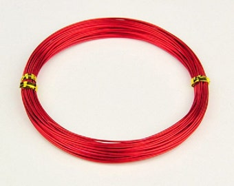 Aluminum wire 1mm red 10m