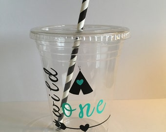 One Year Party Cups Wild One