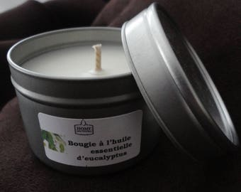 "Natural candle with essential oils ""of Lemon Eucalyptus"""