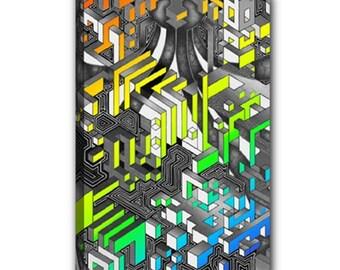 "Wrapped Canvas 12""x18"" - Interdimensional (Rainbow)"