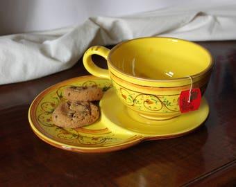 Ceramic's cup + saucer and various decoration
