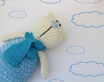 Polar bear toy Soft toy Stuffed polar bear Crochet stuffed bear Personalized toy Hand knit bear Plushie bear Polar bear plushie White bear