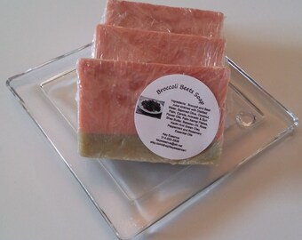 Broccoli Beets Soap, Homemade Essential Oils Soap / Handmade Soap / Handcrafted Soap / Cold Process Soap / Essential Oils