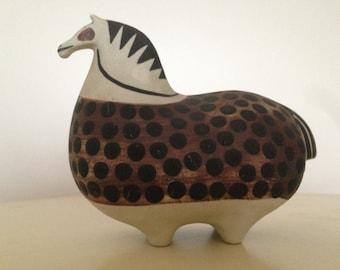 Ceramic Horse Stig Lindberg Gustavsberg ceramics horse Scandinavian design mid Centruy
