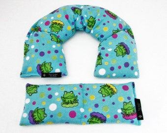 Hot/Cold Frog Print Microwave Rice Heating Pack Set, Spa  Christmas Gift, Rice Heating Pad, Fibromyalgia Arthritis Muscle Tension Relief Set