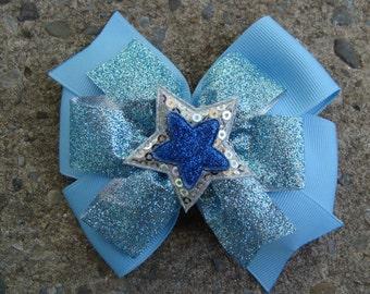 Large Hair Bow Star Hair Bow Large Pinwheel Bow Sparkl hair bow