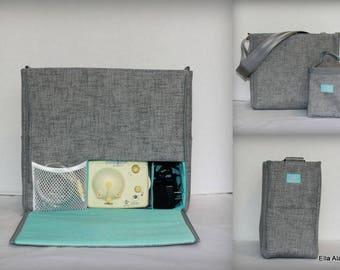 XS Ella style Breast Pump Bag in PP Jackson print
