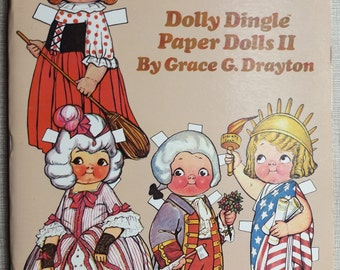 Vintage Dolly Dingle Paper Dolls II by Grace G. Drayton House of Global Art Never Used Measures 12 by 9-1/4 Inches