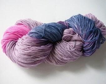 Hand painted superwash merino/nylon sock yarn  fingering weight  Twilight Sparkle, 100g