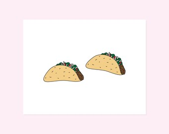 Temporary Tattoos. Tacos. 2 Tats.