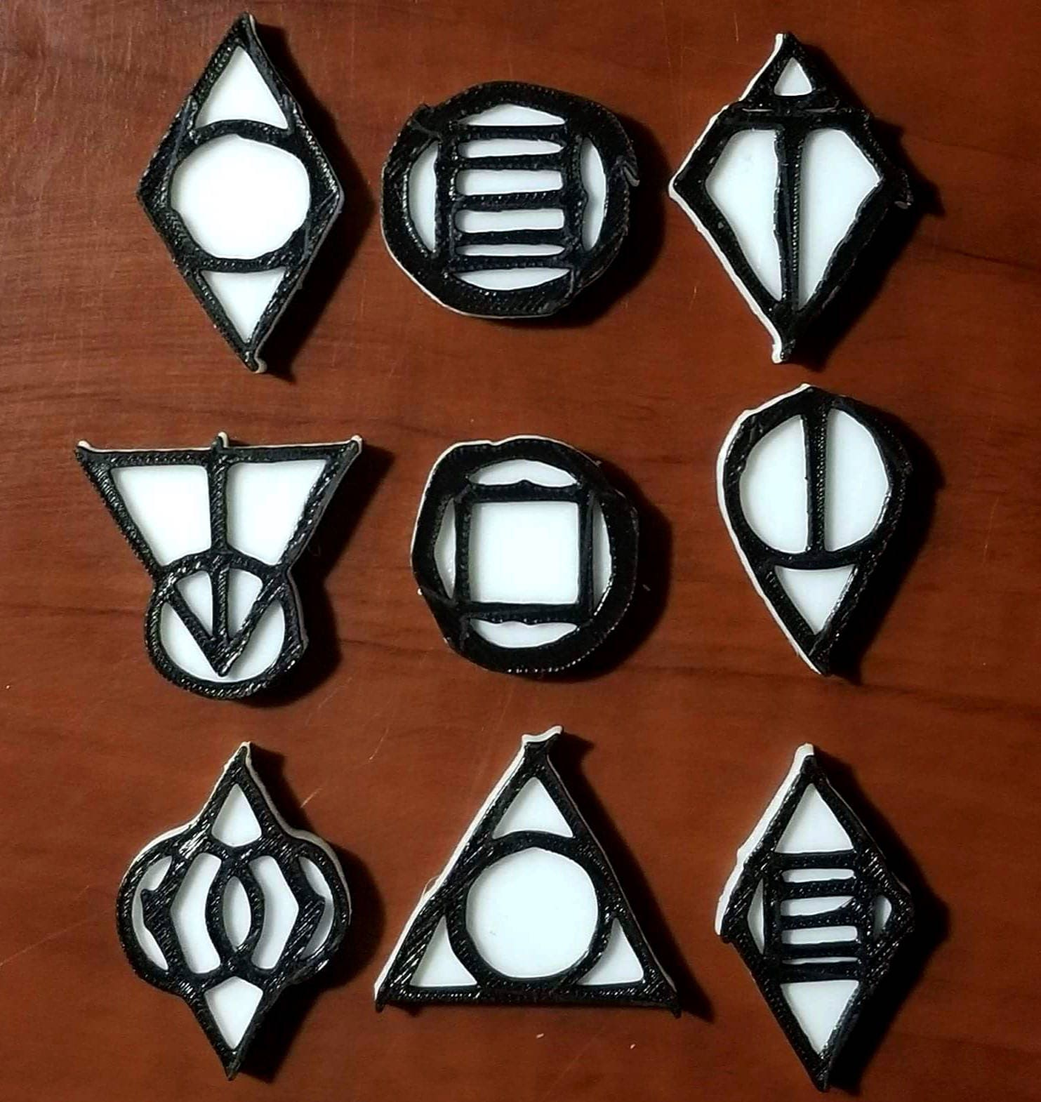 Skyrim Shadowmark Magnets 3D Printed Decoration. Home Decor