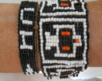Pair of 1920's Beaded Bracelets