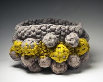 Knit felt anthropod vessel sculpture