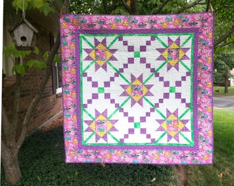 SALE, Buy 2/Get 1 Free -- KNOTTY TIMES, pdf quilt pattern, Baby, Throw, Queen & King sizes