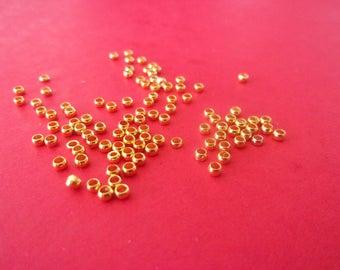 Set of 20 crimps golden color - 2mm