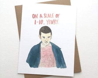 Stranger Things Card //Eleven