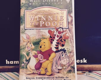 Vintage Walt Disney Masterpiece VHS Tape: The Many Adventures of Winnie the Pooh