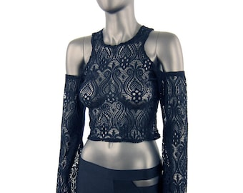 Black Lace Daydreamer Top