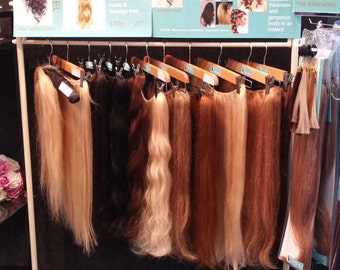 "luxury 100% European Halo hair extensions 20"" hand made"