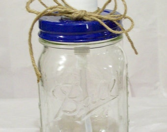Pint mason jar soap - lotion - hand sanitizer dispenser