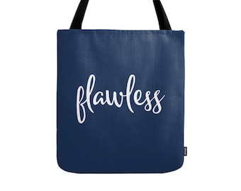 Flawless tote bag Flawless bag Flawless canvas bag typography tote bag canvas tote bag gift for her typography bag black tote bag Latte2Wear