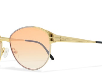 Gucci GG 2260 36G Gold , Brown Vintage Sunglasses Cateye For Men