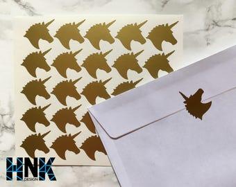 25x / 50x / 75x unicorn stickers / envelope decals / party decoration / glass decor / envelope seals  026