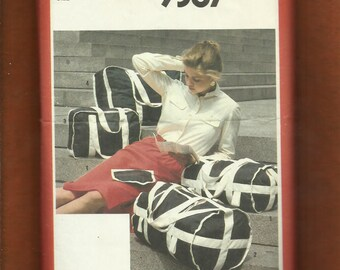 Vintage 1980's Simplicity 9387 Tote Bags Sports Bags Carry On Luggage UNCUT