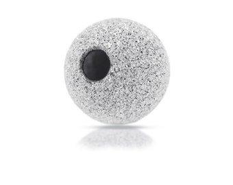 Sterling Silver 3mm Stardust Round Shiny Beads 1.2mm Hole size - 50pcs LOW  PRICE (2019)/1