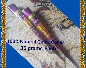 2 x 100% Natural Herbal Quick Cones 35 grams