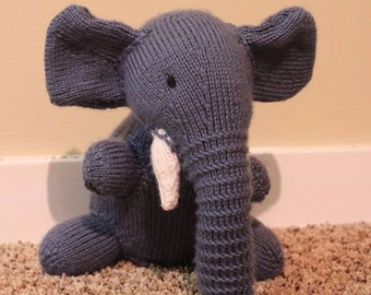 Custom Knit Elephant For Charity