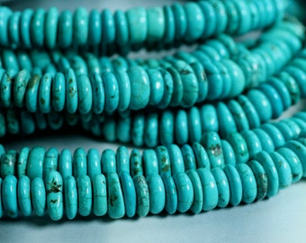 Turquoise rondelle aprox 10mm, one 15-inch strand (item ID L12TTRN10)