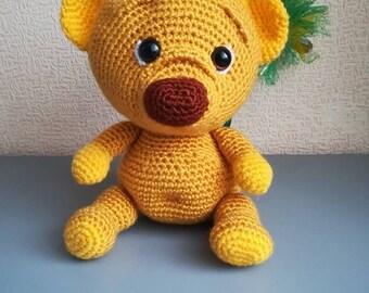 Crochet bear Bear amigurumi Plush Animal  Teddy bear Baby gift Woodland Animal