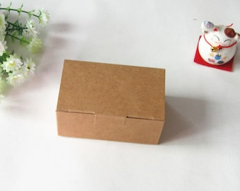 9.3*5.7*4cm Kraft paper box for jewelry Brown kraft gift boxes Kraft paper box 100 pcs