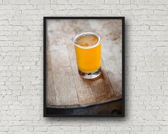 Beer Print / Digital Download / Fine Art Print/ Wall Art / Home Decor / Color Photograph / Food Photography / Kitchen Print