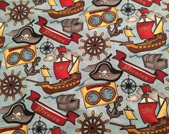 Springs Creative - AHOY MATEY 100% cotton fabric