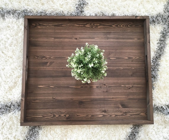 Rustic Wooden Ottoman Tray, Ottoman Tray, Wooden Tray, Rustic Decor, Farmhouse Decor, Rustic Home Decor, Serving Tray, Farmhouse Tray