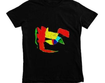 Black Kids Dino Tshirt, Dinosaur T-shirt