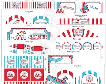 Circus Party Decorations, Vintage Style
