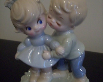 Boy Kissing Girl Figurine Japan Vintage. Price Includes Shipping.