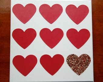 Red Heart Canvas