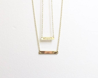 Gold Bar Necklaces, Custom