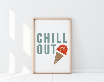 Summer Ice Cream Party Decor | Print Series (Set of 4)
