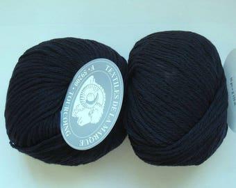 5 balls flora 90 10 Cashmere Wool Navy 11 brand Textiles