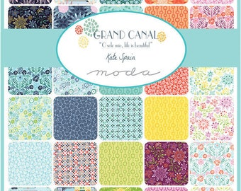 """GRAND CANAL - 5"""" Charm Pack by Kate Spain for Moda Fabrics - (42) 5"""" x 5"""" Squares - 27255PP"""